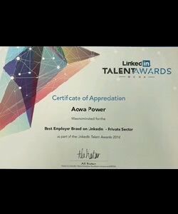 Nominated for Best Employer Brand, LinkedIn Talent Awards, 2016