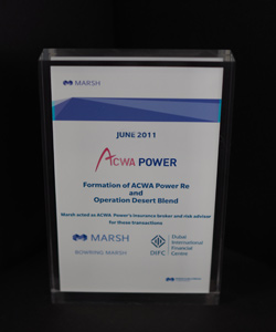 FORMATION OF ACWA POWER RE-AND OPERATION DESERT BLEND 2011