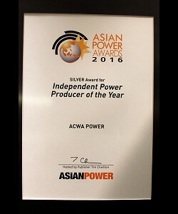 Asian Power Awards, Independent Power Producer of the Year, 2016