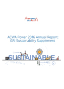 GRI SUSTAINABILITY SUPPLEMENT 2016