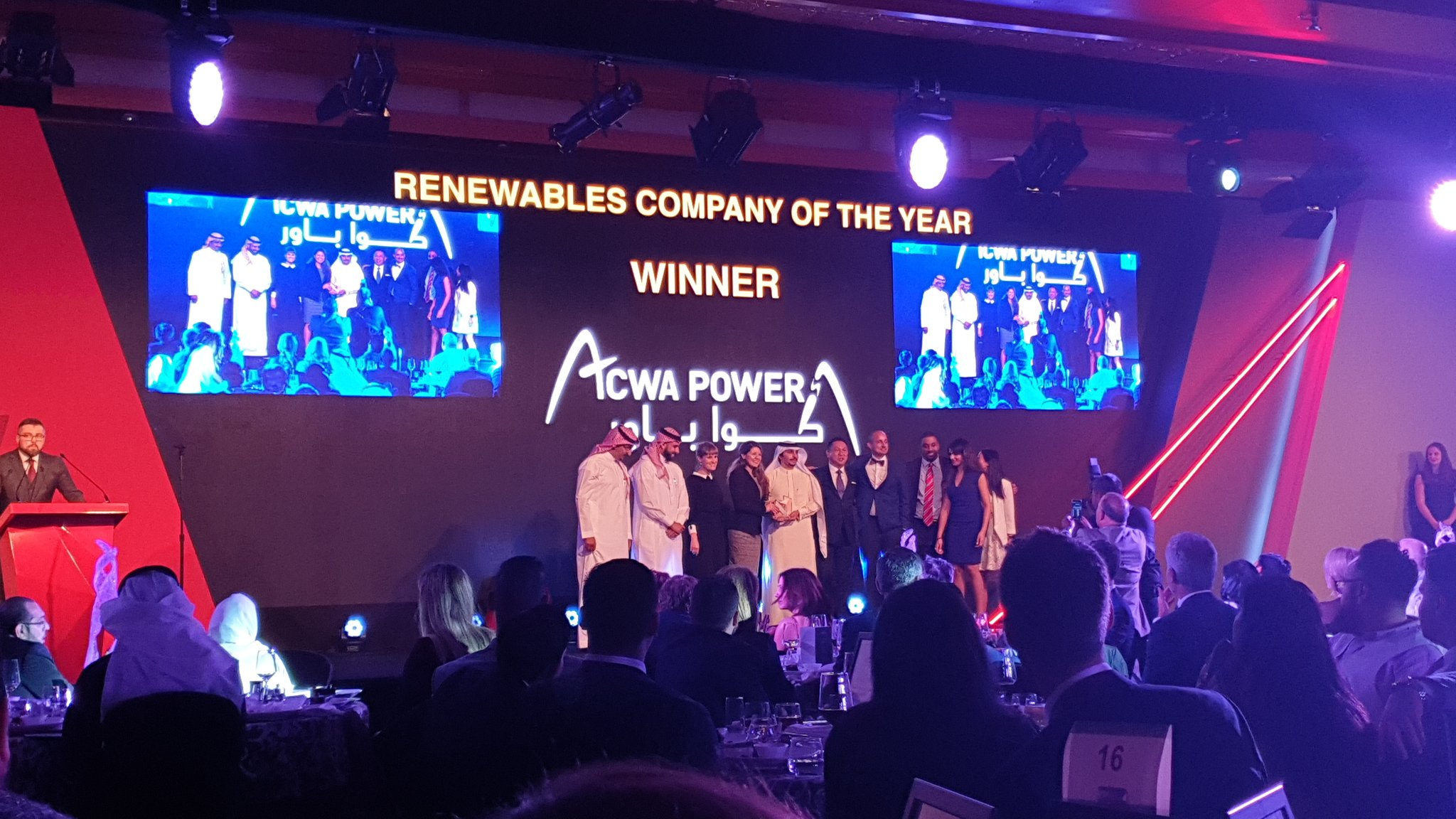 ACWA Power Wins Renewables Company of the Year 2018 at MEED Awards