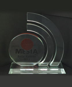 REGIONAL COMPANY OF THE YEAR MESIA SOLAR AWARDS 2013